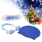i-Swim Pro Kids Swimming Goggles and Cap –Watertight and Adjustable for Children! Comfortable Fit - Anti-Fog - UV Protection with Easy On, Easy Off Swim Cap – No Wet, Tangled Hair Afterwards!