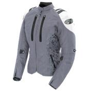 Joe Rocket Atomic 4.0 Womens Silver/White Textile Motorcycle Jacket - 2X-Large
