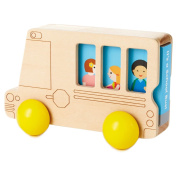 Hallmark Wooden Toy School Bus with Book
