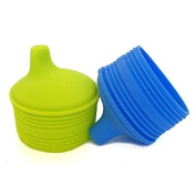 Siliskin Sippy Tops, 2pk, Fresh and H2O colour. by Silikids