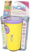 Wow Cup for Kids - NEW Innovative 360 Spill Free Drinking Cup - BPA Free - 270ml (Yellow) by Wow Kids