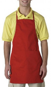 UltraClub® Two-Pocket Adjustable Apron - Red by UltraClub