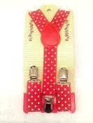Baby Toddler Kids Children Boys Girls Red Polka Dot Suspender by Funtime Accessories