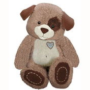 First & Main 20cm Plush Stuffed Dog, White on Brown by First & Main