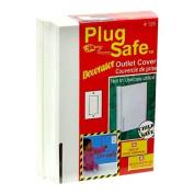 Plug Safe Decorator Child Safe Rectangular Outlet Cover #126 - 6 Covers by Plugsafe