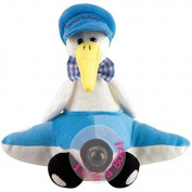"Chantilly Lane 28cm Airborn Stork Baby Boy Sings ""Hush Little Baby"" by Chantilly Lane"