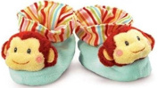Love to Learn Monkey Baby Booties (Size 0 to  .   Russ Baby by Russ Berrie