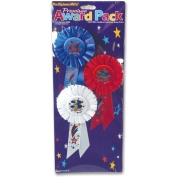 Beistle RAP04 3-Pack 1st, 2nd, 3rd, Place Award Rosettes Party Decor, 8.3cm by 17cm by Beistle