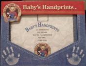 Blue Jean Teddy Baby's Handprints by Art Impression Inc.