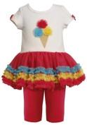 Bonnie Jean Baby-Girl's Ice Cream Cone Applique Birthday Tutu Dress by Bonnie Jean