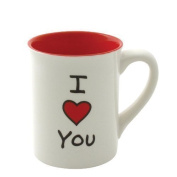 Enesco 4036914 Our Name is Mud by Lorrie Veasey I Heart You Mug, 470ml by Enesco