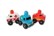 Discoveroo Squeaker Emergency Cars Set by Discoveroo