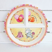 BABY CIE DANI Celebrer Votre Journee Round Textured Sectioned Plate by Baby Cie Dani