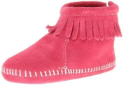 Minnetonka Hook and loop Back Flap Bootie (Infant/Toddler) by Minnetonka