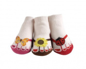 JazzyToes Little Sunshine Flip Flops Socks by Jazzy Toes