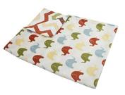 Thro by Marlo Lorenz Elmer Elephant Micro Plush Baby Blanket, 80cm by 100cm , Safari Multi by Thro by Marlo Lorenz