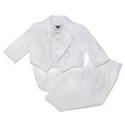 NancyAugust Classic Baby Boy to Teen Formal Tuxedo with Tail in White by Nancy August