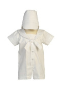 White Sailor Poly-cotton Outfit for Christening Baptism and Special Occasion by Swea Pea & Lilli