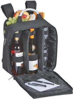 Picnic Plus Magellan Wine & Cheese Back Pack Black by Picnic Plus