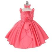 Rain Kids Coral Satin Jewel Ruffle Pageant Dress Baby Girls 6M-24M by The Rain Kids