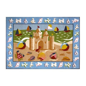 Fun Rugs Olive Kids OLK-050 Sand Castle Area Rug - Multicolor by LA Rug