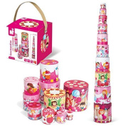 Janod J02829 Janod Delicacies Stacking Pyramid Toy by Janod