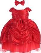 AkiDress Short Sleeve Satin Sequin Detailing Cinderella Flower Baby Girl Dress by Aki_Dress