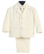 5 Piece Khaki Suit with Shirt, Vest, and Tie by Lito