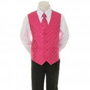 Kids Dream Fuchsia Chequered Vest Formal Special Occasion Boys Suit 12M by Kids Dream
