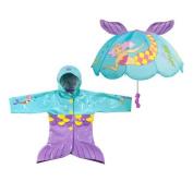 Kidorable Mermaid Raincoat and Umbrella Set (3T) by Kidorable