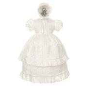 Rain Kids White Silk Lace Bonnet Baptism Dress Baby Girl 6M-24M by The Rain Kids