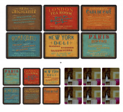 Pimpernel - Lunchtime, 6 Placemats + 6 Coasters + 6  .   Plymouth Coasters