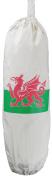 Welsh Flag design - Carrier Bag Holder - Natural cotton plastic bag storage