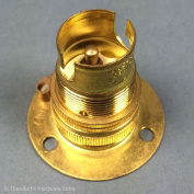 SBC Brass Batten Lamp Holder With Earth and Shade Ring