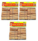 120 x STRONG WOODEN CLOTHES PEGS - 7cm -  .
