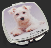 Westie 'Love You Mum' Make-Up Compact Mirror Stocking Filler Gift