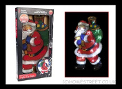 Light Up Santa Christmas Sign With 20 LED Lights And Double Sided Window Xmas Design by Homestreet Xmas