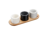 Master Class Artesà Marble Serving Bowls / Sauce Pots and Tray