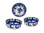 Handmade Round Ceramic Tapas / Serving Bowl x 3