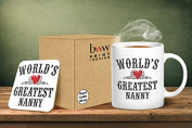 World's Greatest Nanny Mug And Matching Coaster Set