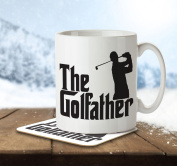 The Golfather - Mug and Coaster By Inky Penguin
