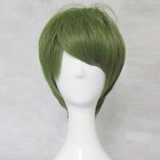 IDOLiSH 7 Nikaitou Yamato Green 35cm Straight Short Cosplay Wig