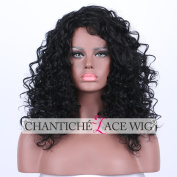 Chantiche Christmas Black Curl Synthetic None Lace Wigs Glueless Machine Made Relastic Looking Synthetic Full Hair Wig for Women