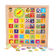 Diamondo Wooden Number Counting Board Kids Children Preschool Math Learning Toy Gift