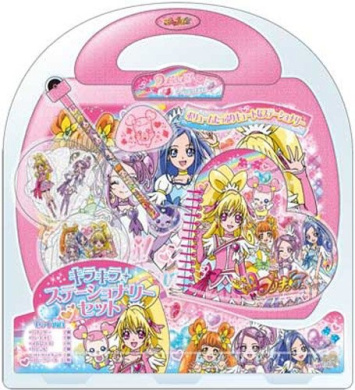 Glitter stationery set pounding! Precure