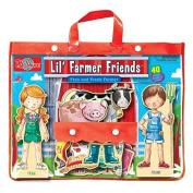 T.S. Shure Lil' Farmer Friends Fran & Frank Wooden Magnetic Dress-Up Playset, Model