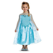 Disguise Elsa Toddler Classic Costume, Large (4-6x) Size: Large (4-6x) Colour