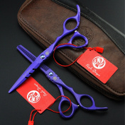 Purple Dragon Violet Colour Salon Hair Care Professional Hairdressing Shears Set Barber Cutting Tools