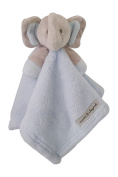 Baby Blue and Grey Elephant Security Blanket