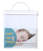 Waterproof Fitted Crib Mattress Sheet - Breathable Hypoallergenic Soft Cotton